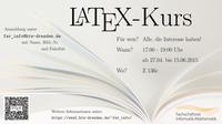 Datenkultur empfiehlt: LaTeX-Kurs im SoSe 2015