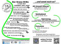 Veranstaltungen der AG Umwelt an der TU Bergakademie Freiberg