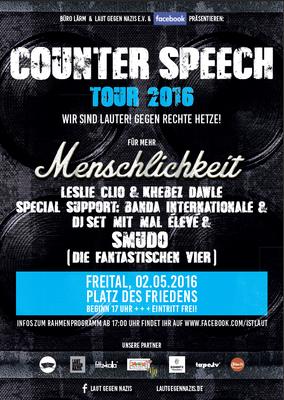 Plakat laut gegen Nazis
