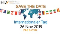 Save the Date: Internationaler Tag am 26.11.2019