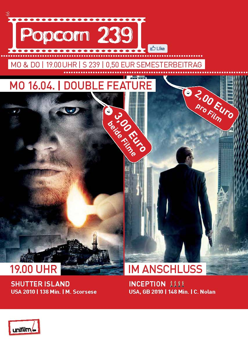 double feature: Shutter Island / Inception