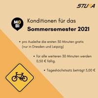 HTW-Studierende fahren im Sommersemester weiter MOBIbike!