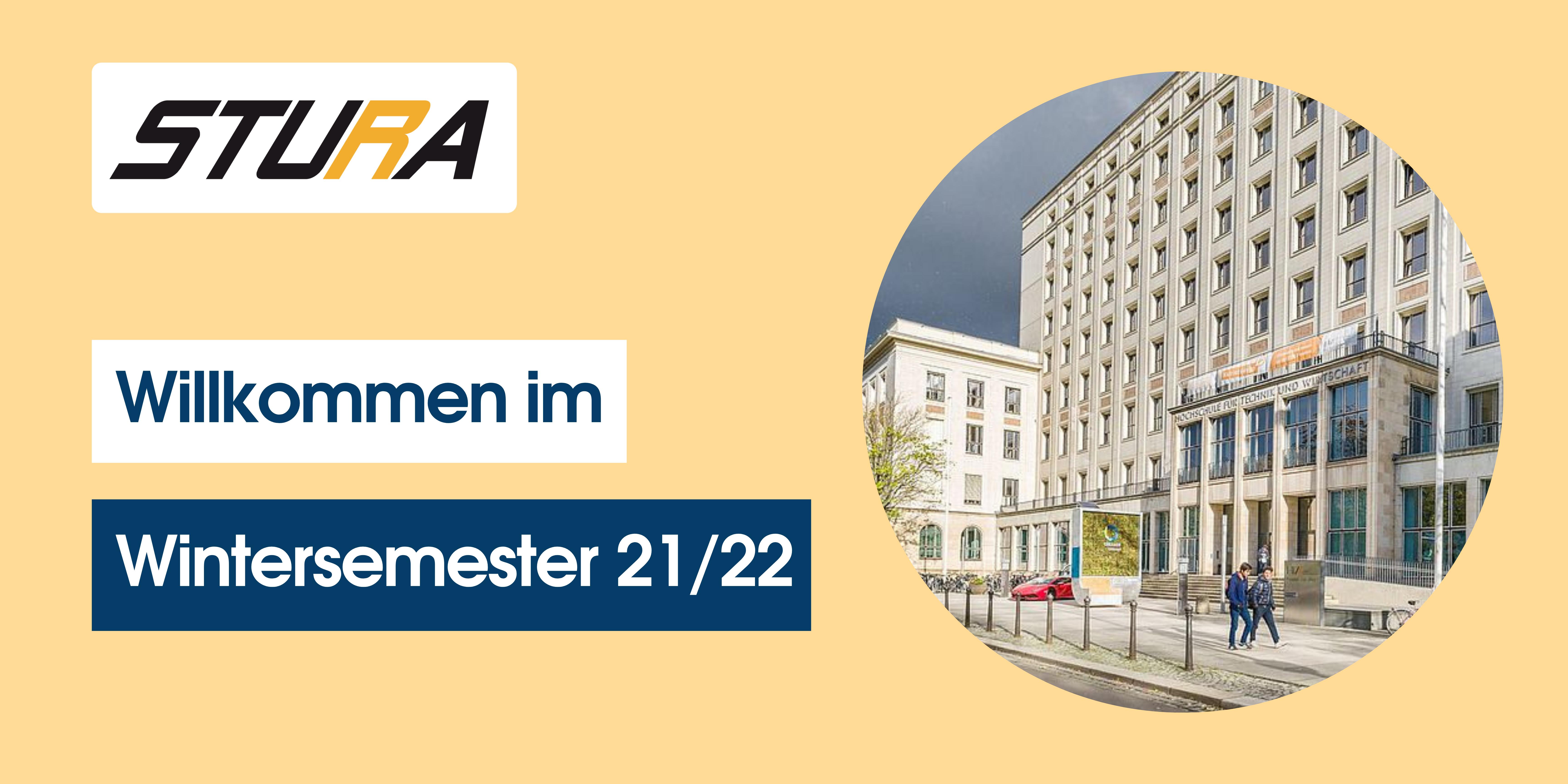 """Bild für die Startseite der Website vom StuRa zum Beginn vom Wintersemester 2021/2022 """"Willkommen im Wintersemester 21/22"""""""